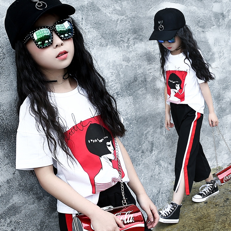 2017 New Summer Children Sets New Girls Short Sleeve T-shirts + Pants Clothing Sets Suits 2pcs Sets Kids Clothes Sports Costume 2016 korean style cute girl printed sets children s clothes short t shirts pants 2pcs girls clothing retial 0 4t kids coat