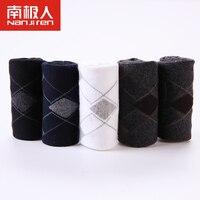 الرجال الجوارب تنفس لينة القطن بلون الماس تصميم الأعمال الذكور الجوارب 5 قطعة/الوحدة