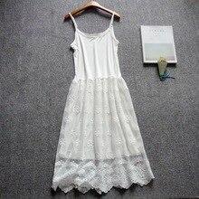 Silk Full Slip Plus Sexy Women White Petticoat 9844