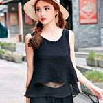 Women-Crop-Top-Black-Blue-White-Color-Cotton-and-Linen-Women-Tops-O-Neck-Sleeveless-Casual