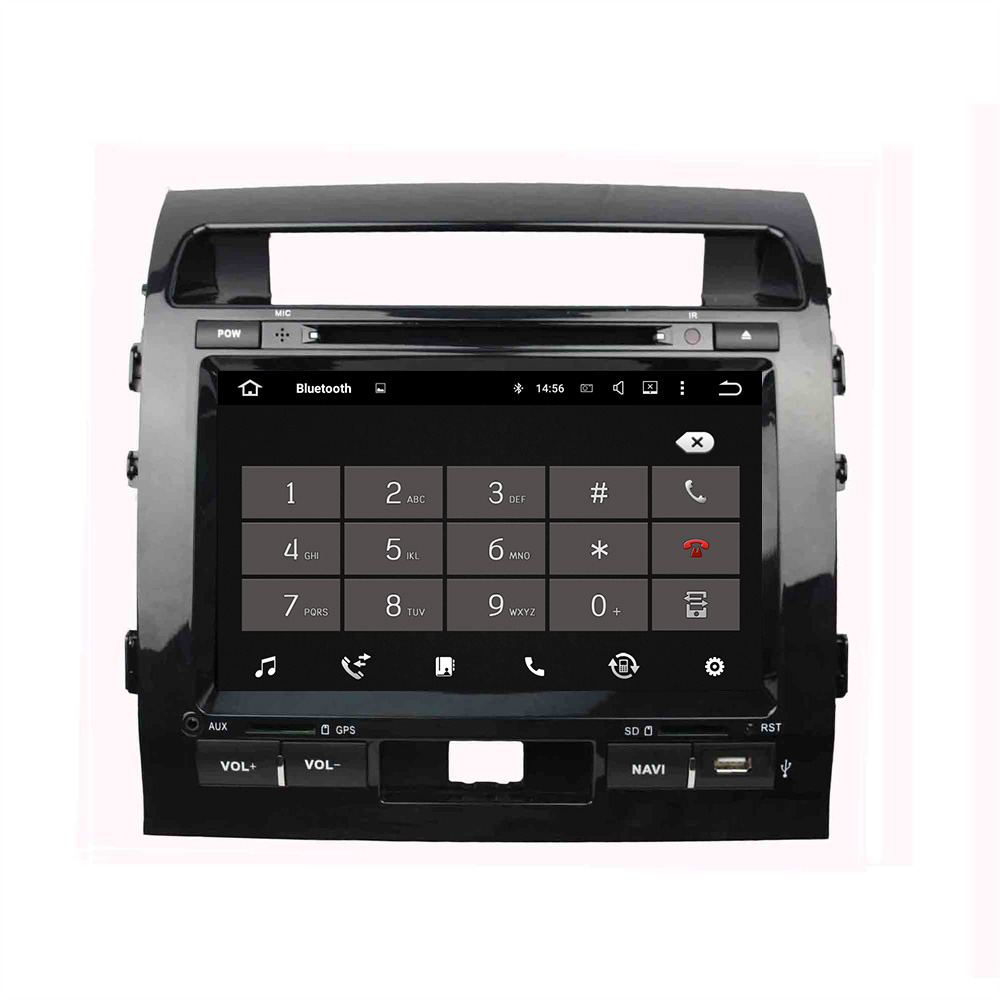 Android 5.1.1 4 Core Car GPS Navigation DVD Player Car Radio Audio Video Multimedia For Toyota Land Cruiser 2008-2012