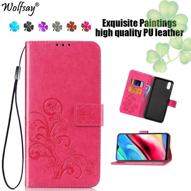 Wolfsay Case Vivo Y93 Mobile Phone Bag Flip Leather Wallet Case For Vivo Y93 Silicone Luxury Case For Funda Vivo Y93S Y93s Cover