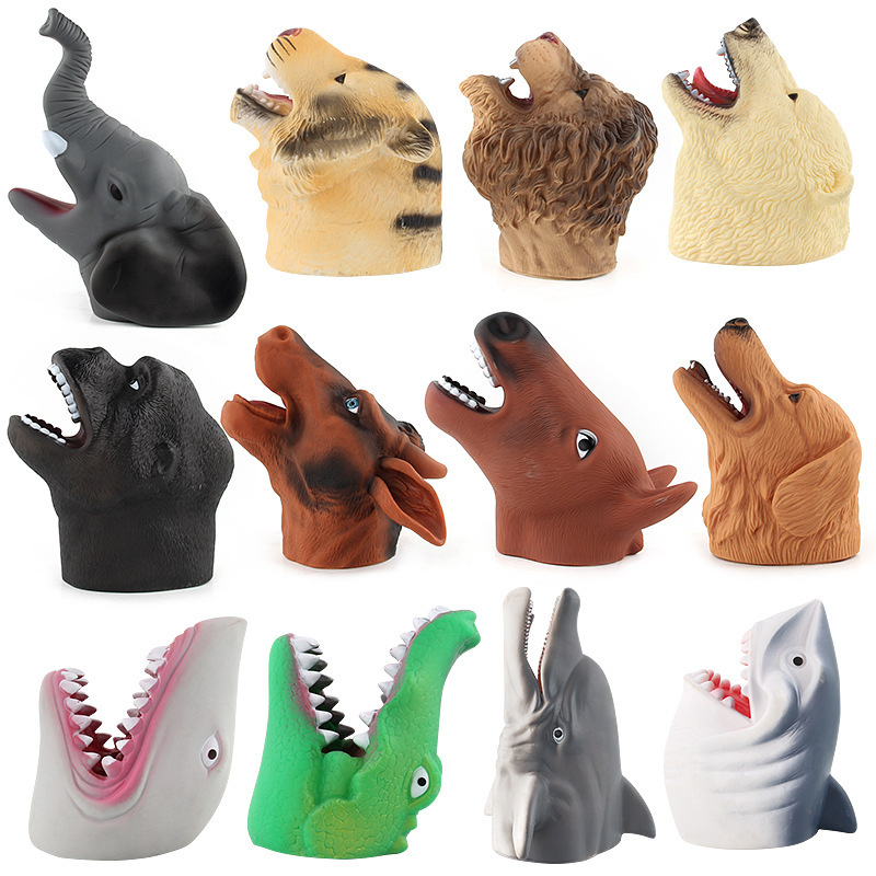 2018 Halloween Jurassic Tyrannosaurus Raptor Dinosaur Hand Model Dinosaur Gloves Toys Foreign Trade