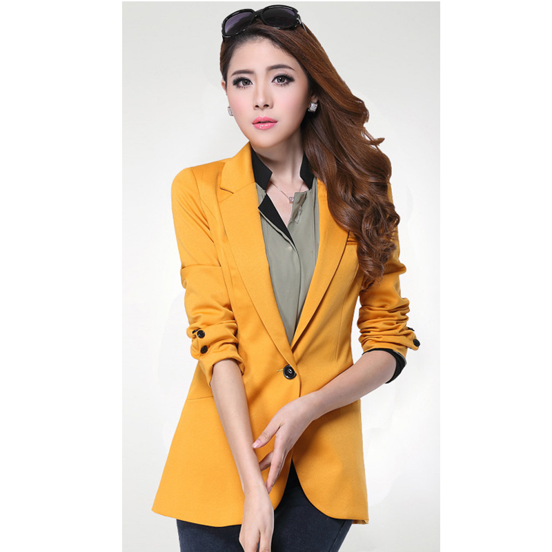 veste de blazer femme jaune les vestes la mode sont populaires partout dans le monde. Black Bedroom Furniture Sets. Home Design Ideas
