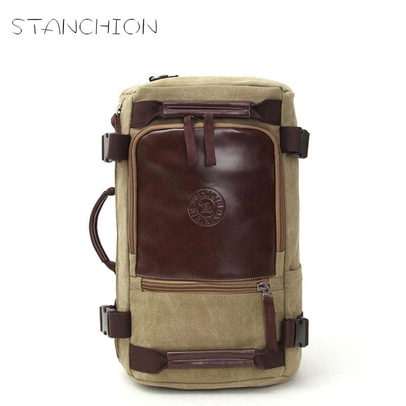 STANCHION Fashion Travel Large Capacity Backpack Male  Shoulder Bag Computer Backpacking Men Multifunctional Versatile Bag