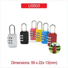 1PCS 3 Digit Combination Password Padlock for Luggage Baggage Zipper Bag School Bag Trolley Case US503(China)
