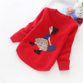 2016 new girls' sweaters winter children clothes 4-14 years girls sweater 8001