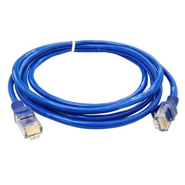 D3 Internet Cable Cat5e Patch Cables Blue Ethernet Internet LAN CAT5e Network Cable for Computer Modem Router