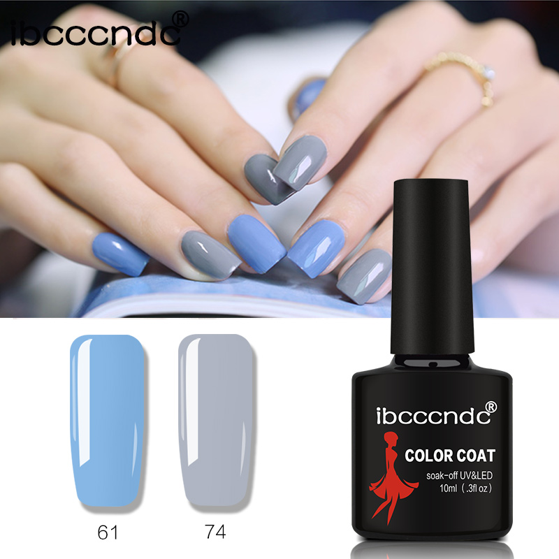 Nail Art 80 Solid Color 10ML Gel Nail UV Gel Nail Polish Soak Off Varnish Semi Permanent LED Nail Polish Lacquer Gelpolish 61-80