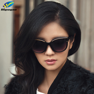 DIGUYAO oculos de sol feminino Women Brand fashion sunglass Cat Eye Frame Mirror Sun Glasses Flat men Sunglasses