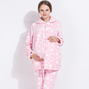 Image 3 - Emotion Moms Winter mutterschaft Pyjamas stillen nachtwäsche Sets Schwangerschaft Nachtwäsche Anzug Pyjamas für schwangere frauen