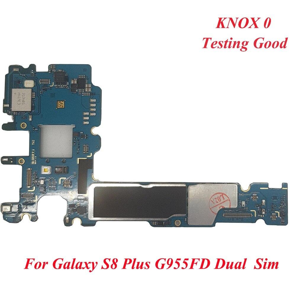 Carte mère d'origine pour Samsung Galaxy S8 Plus G955FD 64 GB carte mère déverrouillée double SIM avec Android OS IMEI