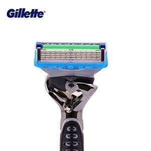 Image 4 - Gillette ProGlide Potenza Rasoio da Uomo Nero Maniglia + 1 Lama di Ricarica Fusion5 Con FlexBall Tecnologia Con 5 Anti attrito Lame