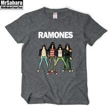 Neue 2016 mode frauen männer casual sommer t shirts Ramones Rock Band drucken musik stil kurzarm t-shirts plus größe