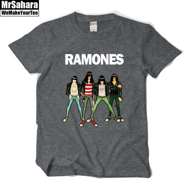 New 2016 fashion women men's casual summer t shirts Ramones Rock Band print music style short sleeve t-shirts plus size