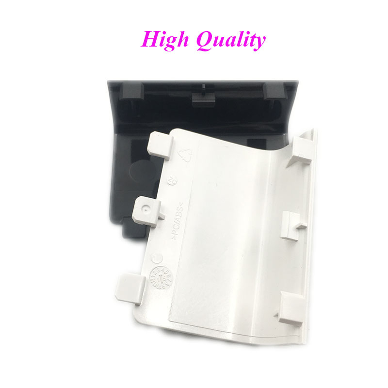 100PCS High Quality Black Battery Cover Door for XBox One Wireless Controller Black Side ...