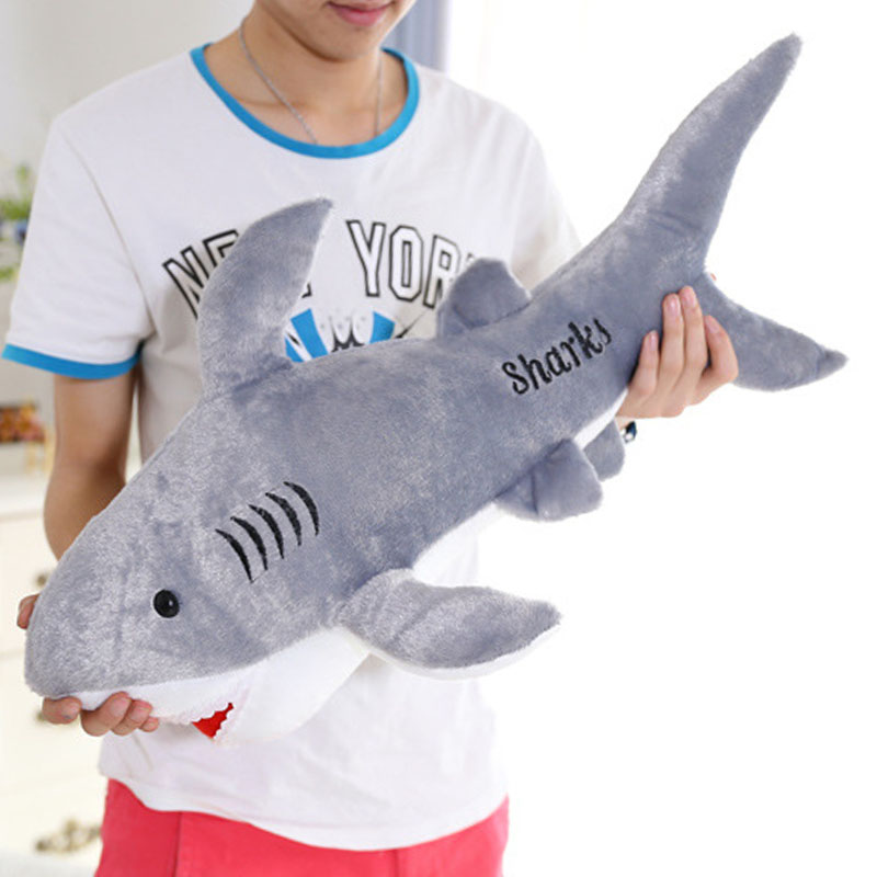 Aliexpress.com : Buy 50cm giant shark plush shark whale stuffed fish ocean  animals kawaii doll toys for children kids cartoon toy for baby's gift from  ...