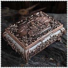 5 цветов русский оловянный сплав металла украшения дома орнамент деревенский корпус и раздел ювелирных изделий коробка коллекция подарок
