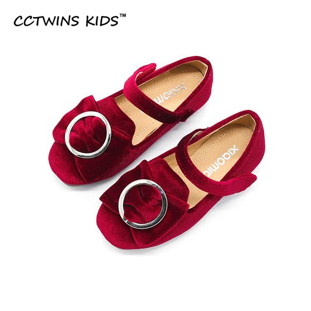 CCTWINS CRIANÇAS 2017 primavera outono arco preto sapato criança moda infantil plano de couro pu marca para o bebê da criança menina mary jane sapato