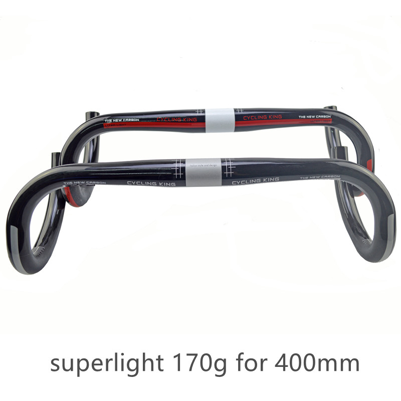 classic cycling king full Carbon road bike handlebar bent bar Bicycle parts superlight cycling parts172g 31.8*400/420/440*31.8mm