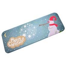 Christmas HD Printed Non-Slip Bath Mat Absorbent indoor outdoor Home Decor doormat carpet XmasChristmas snowman 40*60CM