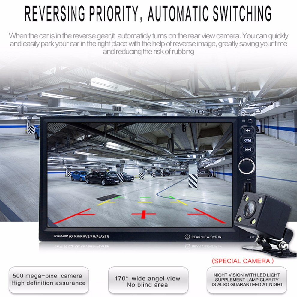 8012G Vehicle MP5 Navigation 7-inch Touch Navigation Integrated Machine multimedia player Car Aid Accessories8012G Vehicle MP5 Navigation 7-inch Touch Navigation Integrated Machine multimedia player Car Aid Accessories