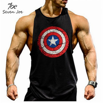 Seven Joe. musculation vest bodybuilding clothing and fitness men undershirt solid tank tops