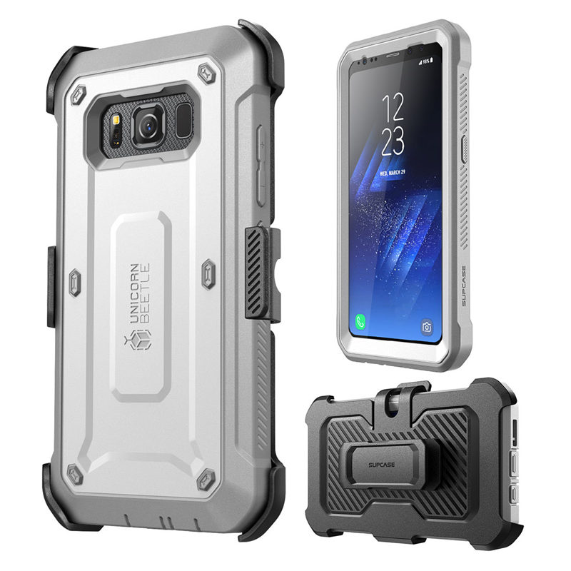 Image 3 - SUPCASE For Samsung Galaxy S8Active Case Unicorn Beetle UB Pro Full Body Rugged Holster Cover WITH Built in Screen ProtectorFitted Cases   -