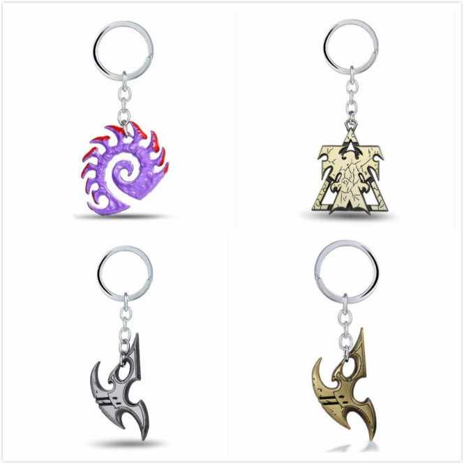 Ngôi Sao nóng Keychain Wings Of Liberty Terran Zerg Và Protoss Kim Loại Key Chain Key Chủ Quà Tặng Đồ Trang Sức