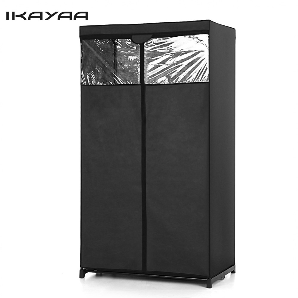 IKayaa US UK Stock Clothes Folding Wardrobe Cabinet
