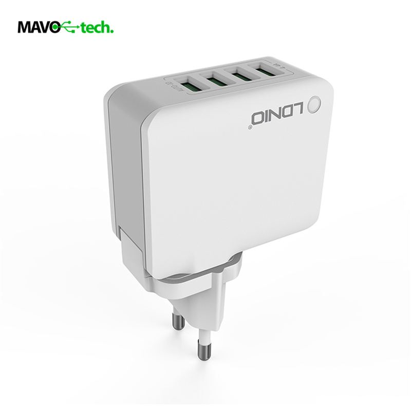 LDNIO Original 4 USB Multi Ports 4 4A Fast Charger EU US UK AU Plugs Wall