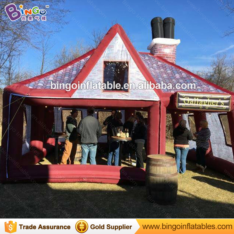 цены  Free shipping bachelorette party irish inflatable pub bar hot sale customized size booth tent for toy tent