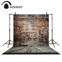 Allenjoy Fotografía de fondo de fondo 215*150 cm (7 * 5ft) Roto ladrillos de madera de pared de fondo de vinilo fondos de fotografía photo studio