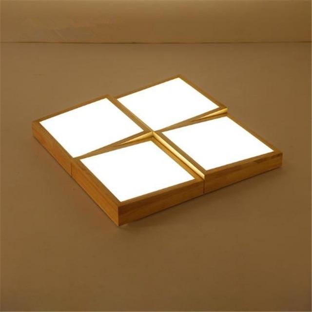 Stile giapponese Contratta Geometrica LED In Legno Massello ...
