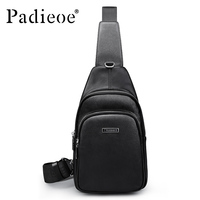 Padieoe Luxury Genuine Cow Leather Men S Chest Bag Fashion Deluxe Business Man Crossbody Bag High