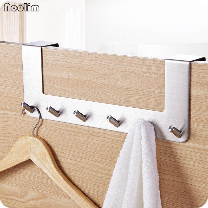 Bathroom Towel Door Hanger: NOOLIM Stainless Steel Bathroom Towel Clothes Hook Cap Bag