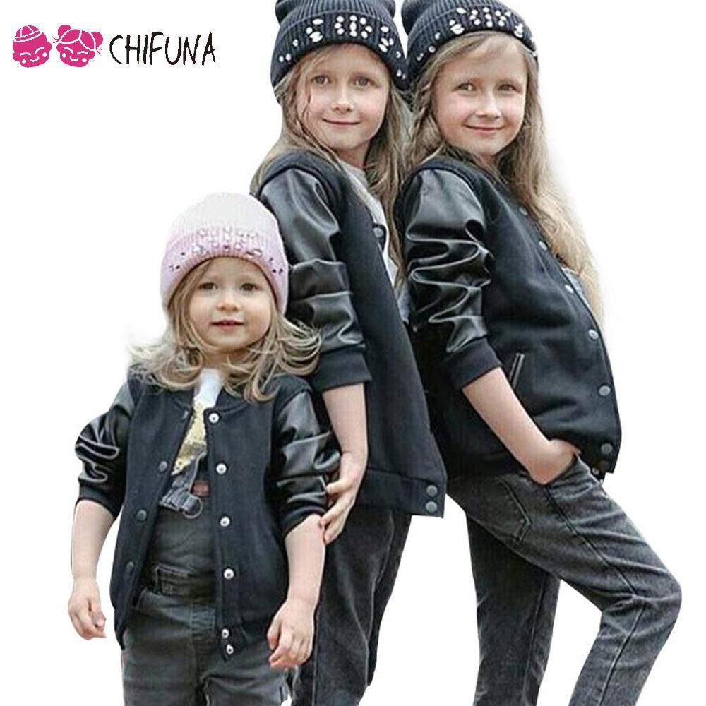 Leather jackets for kids - New Baby Boys Coat Pu Leather Jacket Kids Winter Coats Children Baseball Jacket Child Boys Clothes