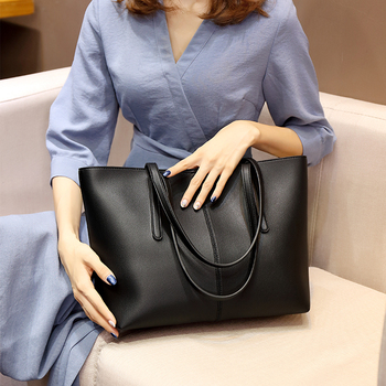 Brand Leather Luxury Handbag High Capacity Shoulder Bag Female Fashion Office Work Leather Big Tote Bags Women Black Red Silver tote bags for work