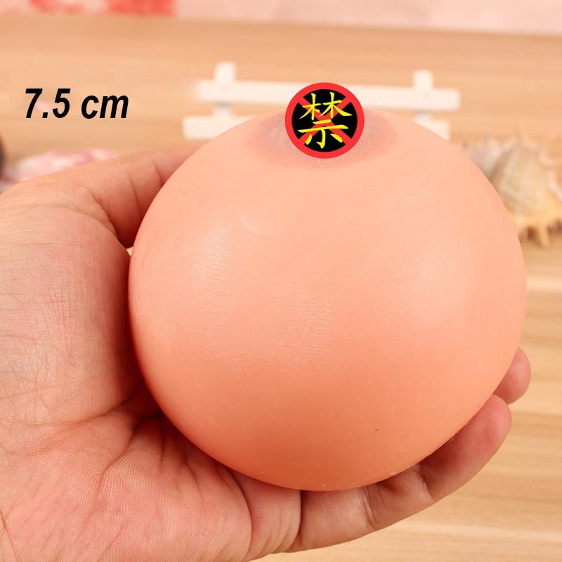 7.5cm brinquedo mole mama alivia o estresse brinquedo adultos ansiedade atenção prática antiestresse piadas bola espremer gadgets brinquedos