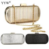 Fashion Metal Clutch Bag Gold Silver Black Mini Evening Bags Day Clutches Purse Wedding Bride Handbag Small Totes Woman 2019