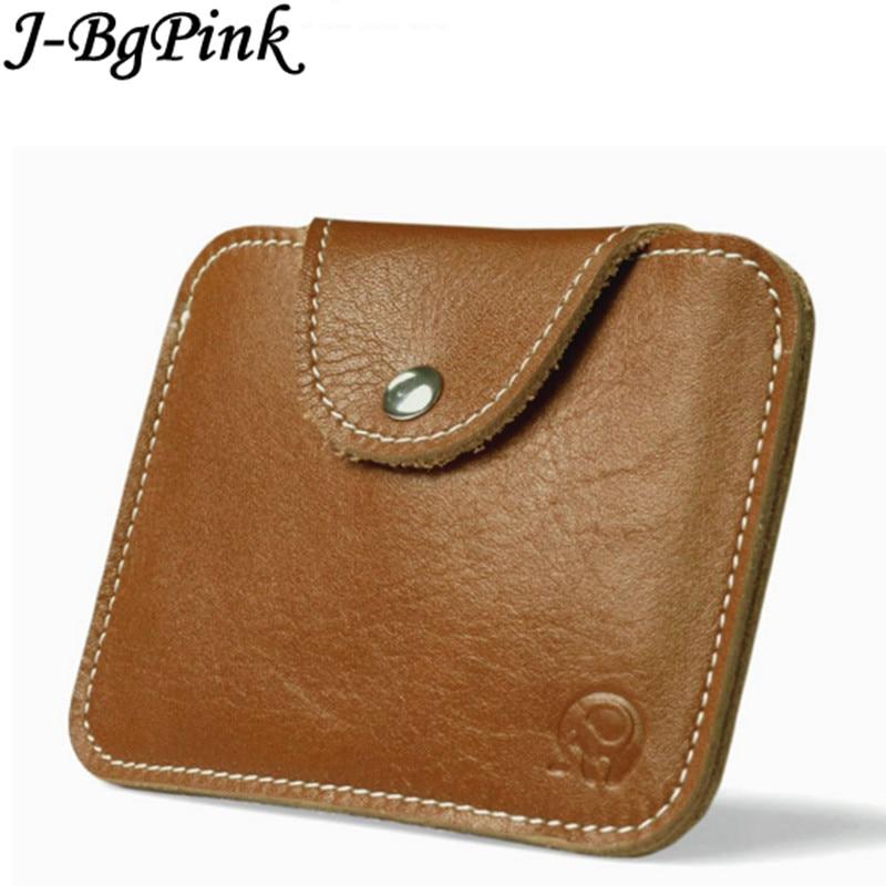 Mini plånböcker hasp liten handväska 100% äkta läder plånbok män plånböcker man koppling kvinnor galen häst läder vintage stil Ny