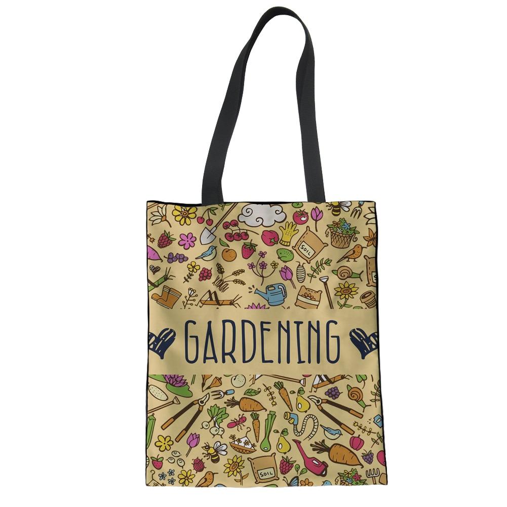 FORUDESIGNS Retro Gardening Womens Handbag School Canvas Totes Women Shoulder Top Handle Bags for Summer Beach Designer Leisure