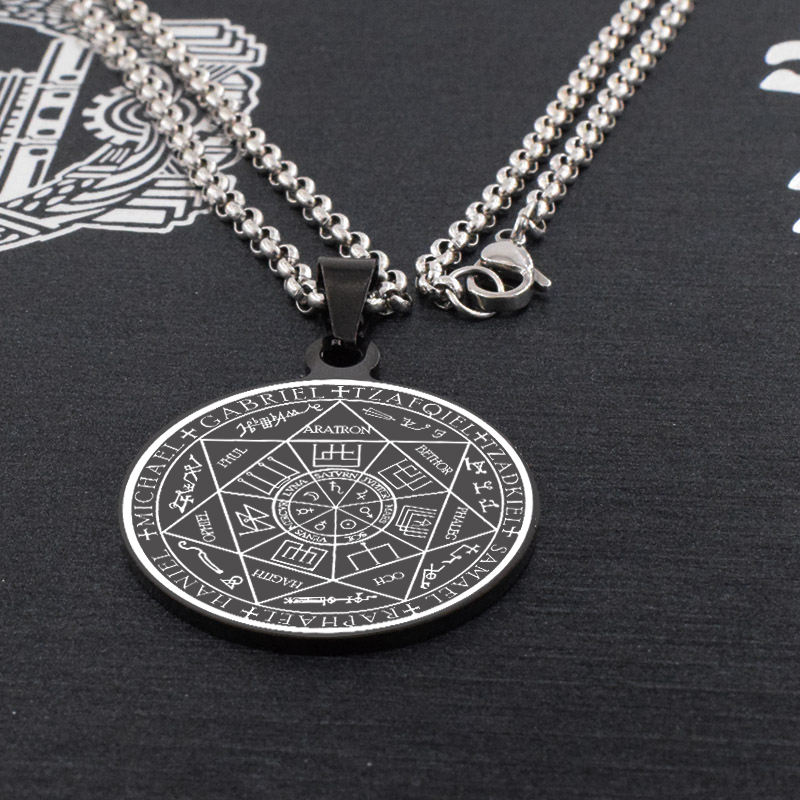 Fashion Chic Archangel Sigil Seal of Solomon  Pendant Charm Necklace