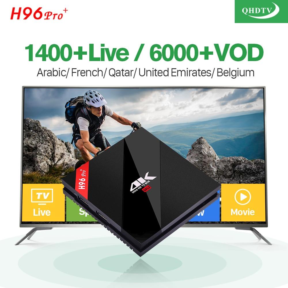 French IPTV H96 Pro Plus Android 7.1 Smart TV BOX 3G 32G 1400 IPTV Europe French Netherlands Belgium India Arabic Set Top Box konad french set