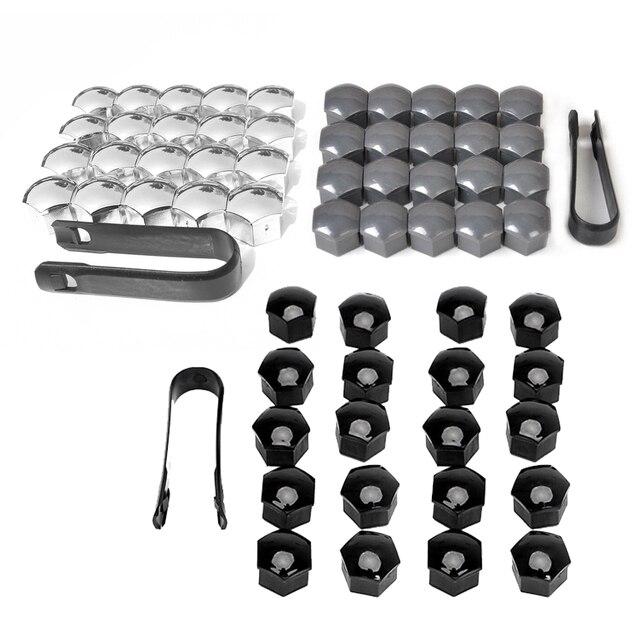 20 piezas protección especial del enchufe del polvo de la rueda del coche tapas de la tuerca de la cubierta del tornillo del cubo automático llantas de la decoración Exterior 17mm y herramienta de extracción