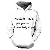 Unicomidea Custom Made Men/Unisex Sweatshirt 3D Print Pullovers Hoodies Brand Clothing Dropship/Wholesale