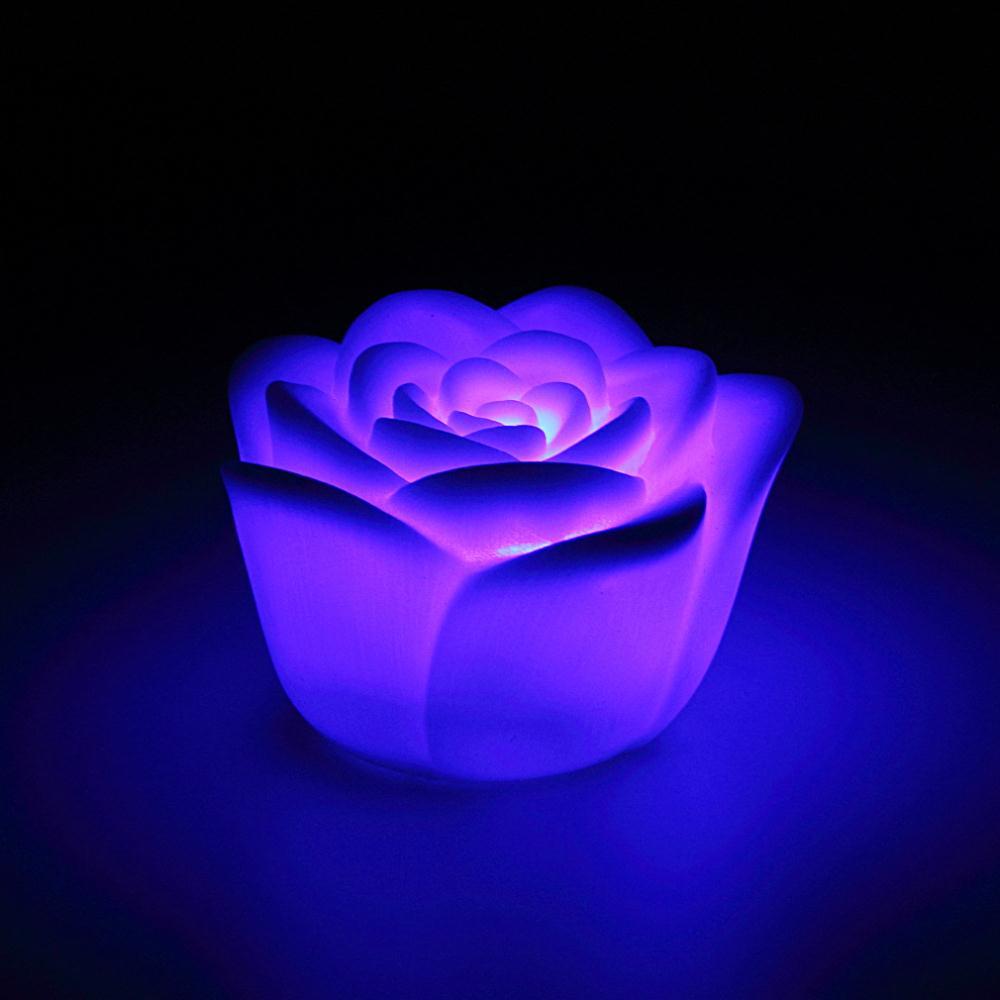 Led Lamps Hot Worldwide 1pcs Changing 7 Colors Rose Flower Led Light Night Candle Light Lamp Romantic Led Night Lights