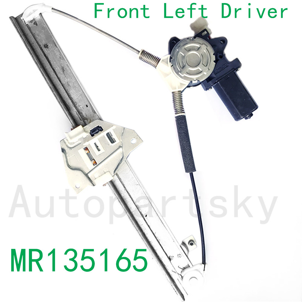 MR135165 Front Left Power Window Regulator w Motor Front LH Driver For Mitsubishi Montero 1992 2000