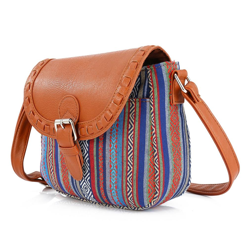 7db4d8cdcbf5 2017 Vintage Blue Stripe Boho Aztec Tribal Female Clutch Women Crossbody  Bag Ladies Shoulder Bag with PU Leather Messenger Bag-in Crossbody Bags  from ...
