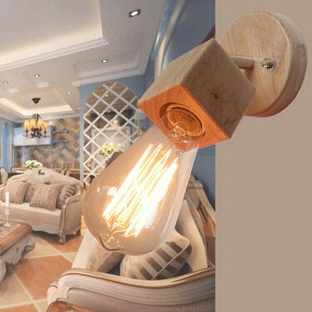 aliexpress koop 2 stks partij moderne verlichting houten